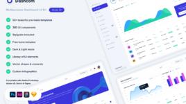 Dashcom - XD Dashboard UI kit