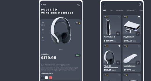 Electronics ecommerce XD app template